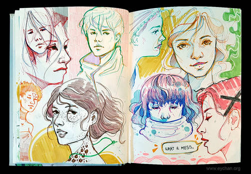 Sketchbook Page Characters