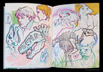Sketchbook Page Dinosaurs