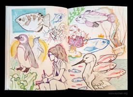 Sketchbook Page Aquarium