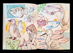 Sketchbook Page Aquarium