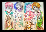 Sketchbook Page SciFi Characters 2