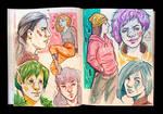 Sketchbook Page Punks