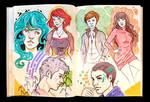 Sketchbook Page Random Characters
