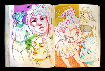 Sketchbook Page Fashion Girls