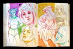 Sketchbook Page Fashion Girls