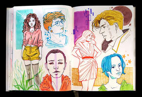 Sketchbook Page Colors and Colors