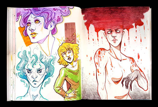 Sketchbook Page Color and Dark