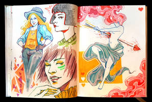 Sketchbook Page Lovelies