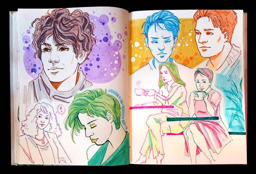 Sketchbook Page Coffee Shop Stuffs