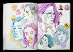 Sketchbook Page Cool Hues