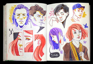 Sketchbook Page Warm and Cool