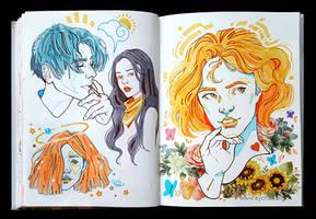 Sketchbook Page Dreamers