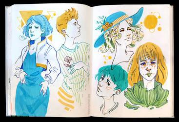 Sketchbook Page Sunny