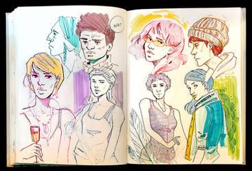 Sketchbook Page Random Peoples