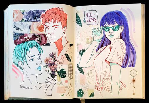 Sketchbook Page VioLens