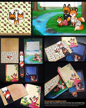 Fox Wedding Card Set