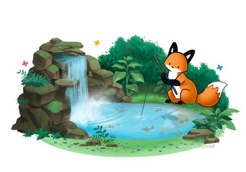 Fishing Fox