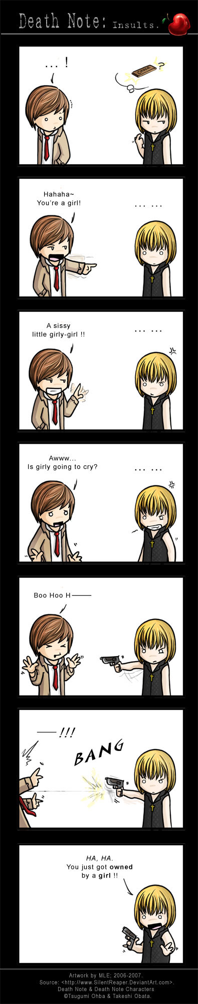 Death Note: Insults by eychanchan