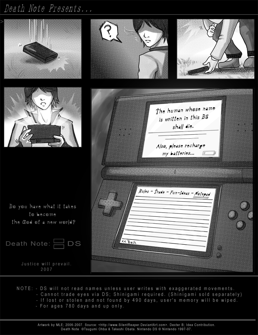 Death Note: DS Parody Ad