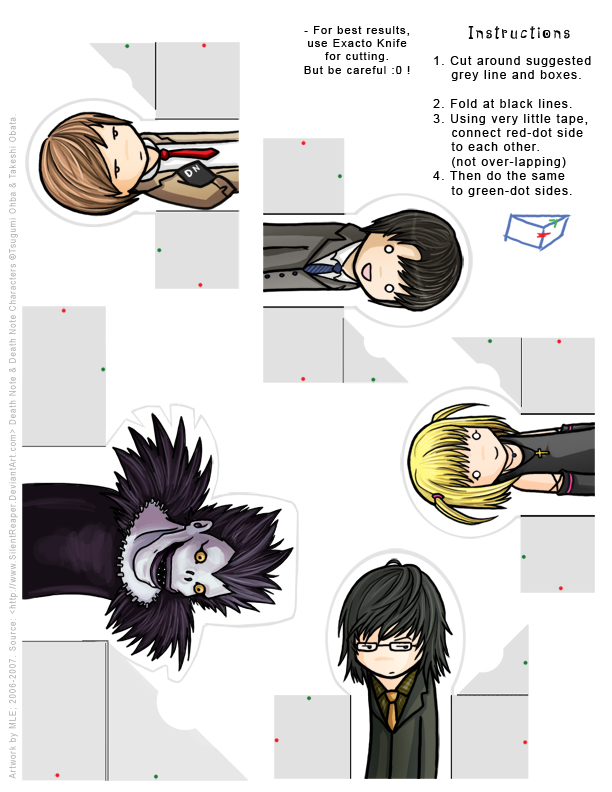 Death Note: FingerPuppet Set 1