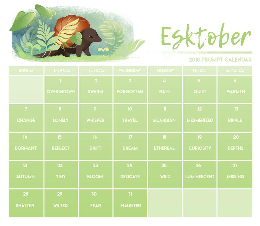Esktober Calendar by runeowl
