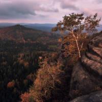 Little Autumn Cabin by Unkopierbar