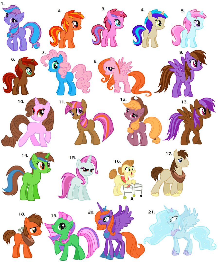 my little pony names - 736×897
