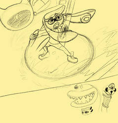 Doodle 1 - Splatoon/de Blob crossover