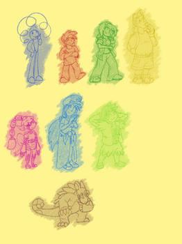Doodle 2 - PC Main Chrctrs Action Tome Idles