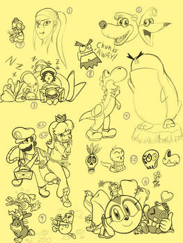 Doodle 3 - Various Game Characters