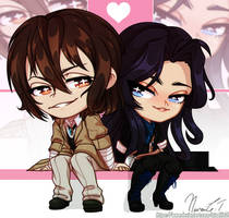 Chibi COMM: Osamu and Naoya by NinaLife31