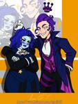 COMM MHA Style: Indigo Stardrop+Purple Poltergei by NinaLife31