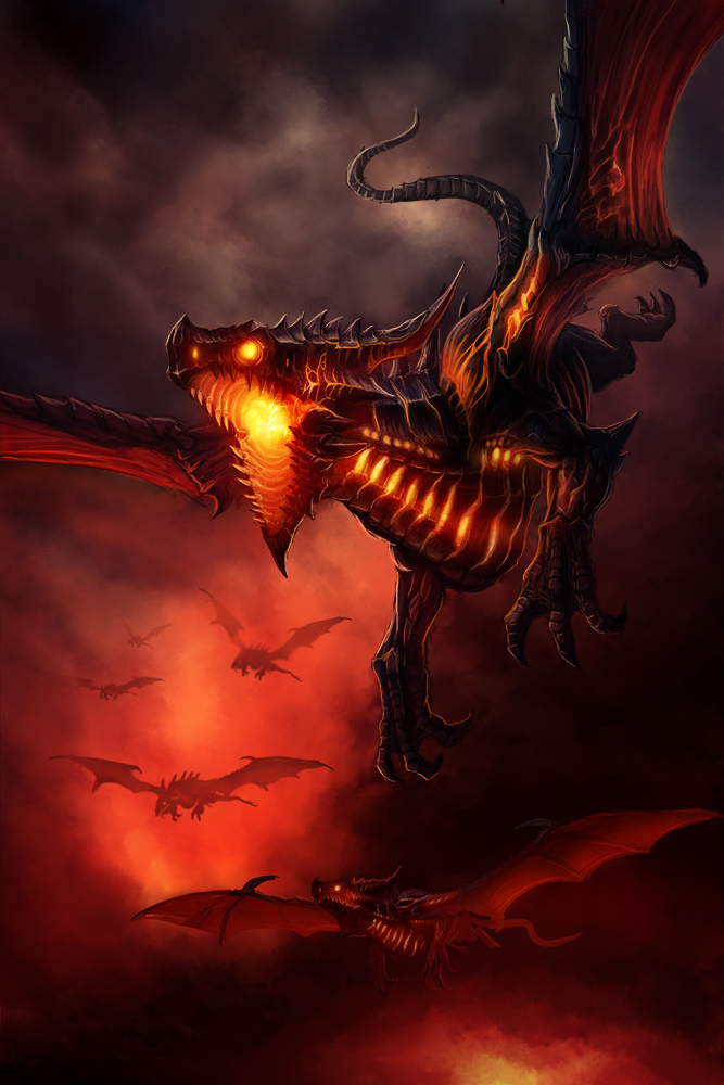 Flight of dragons by baklaher