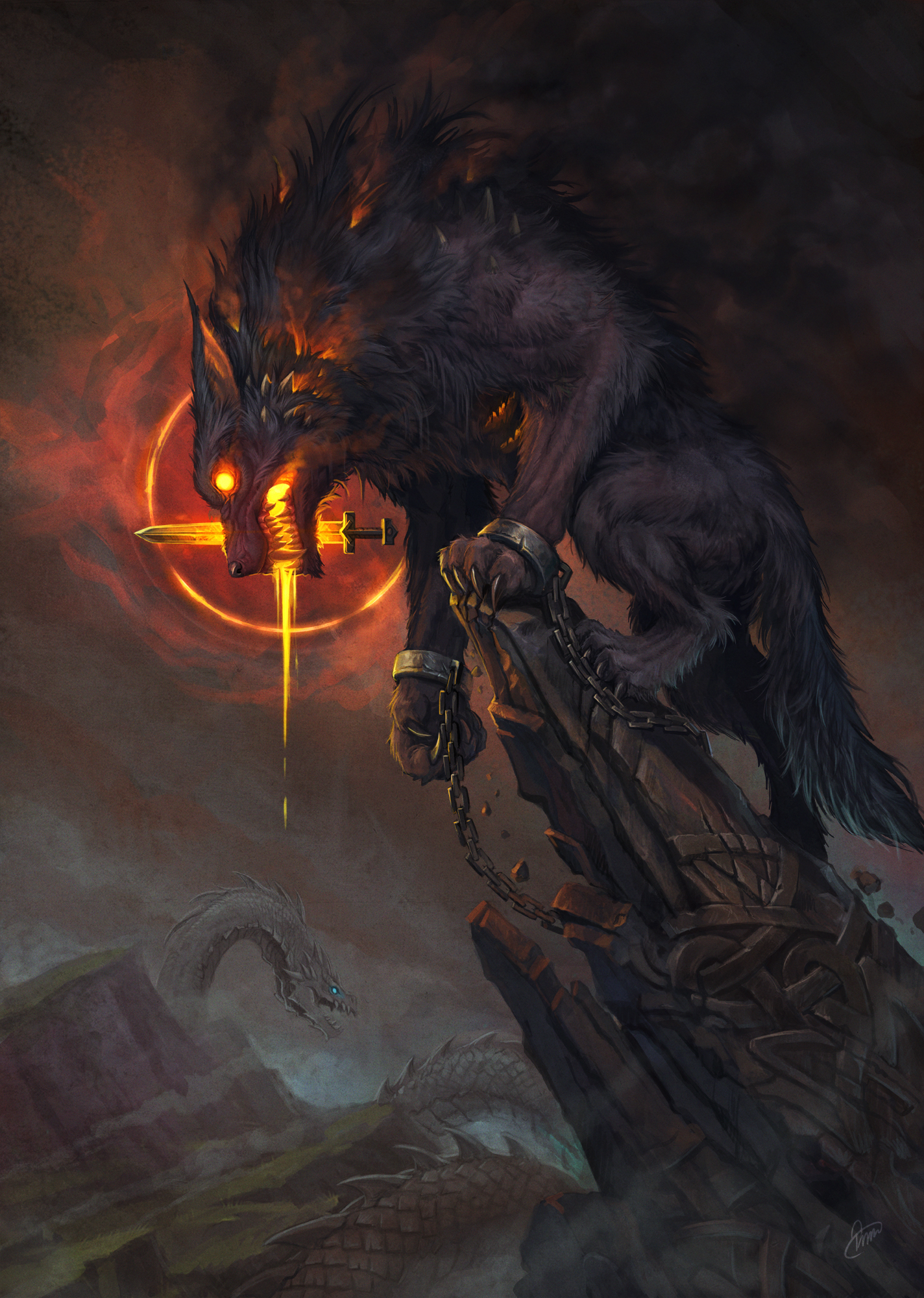 Fenrir by baklaher on DeviantArt