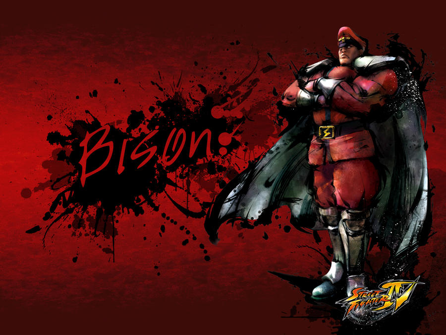 Street Fighter IV Bison-red by spliterbg on DeviantArt