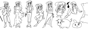 The Many Outfits Of Piri :1: by Fairy-anime
