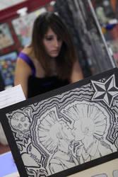THATS ME. Art show 2010. by xXlovelesskittenXx
