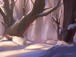Winter (Process on YouTube) by ZyrSkar