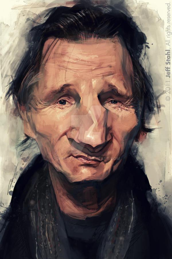 Liam Neeson by JeffStahl