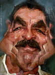 Tom Selleck, by Jeff Stahl
