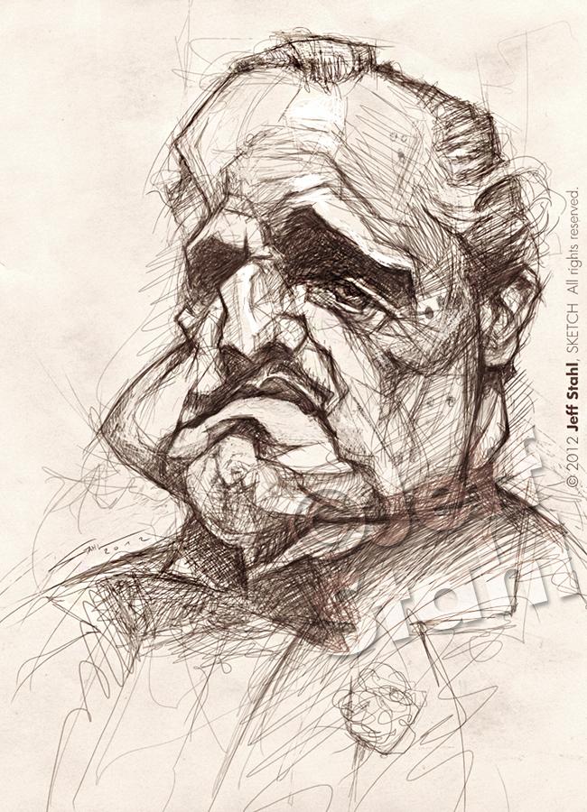 Vito Corleone, by Jeff Stahl by JeffStahl
