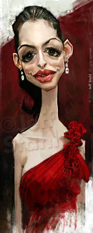Anne Hathaway, by Jeff Stahl