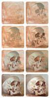 Skull oil study II, step by step