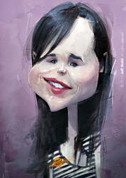 Ellen Page, by Jeff Stahl by JeffStahl