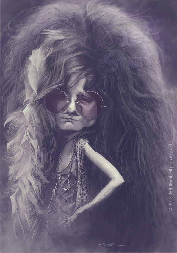 Janis Joplin, by Jeff Stahl by JeffStahl