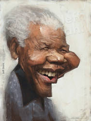Nelson Mandela, by Jeff Stahl by JeffStahl