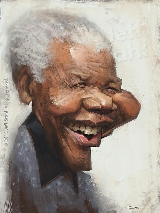 Nelson Mandela, by Jeff Stahl by JeffStahl