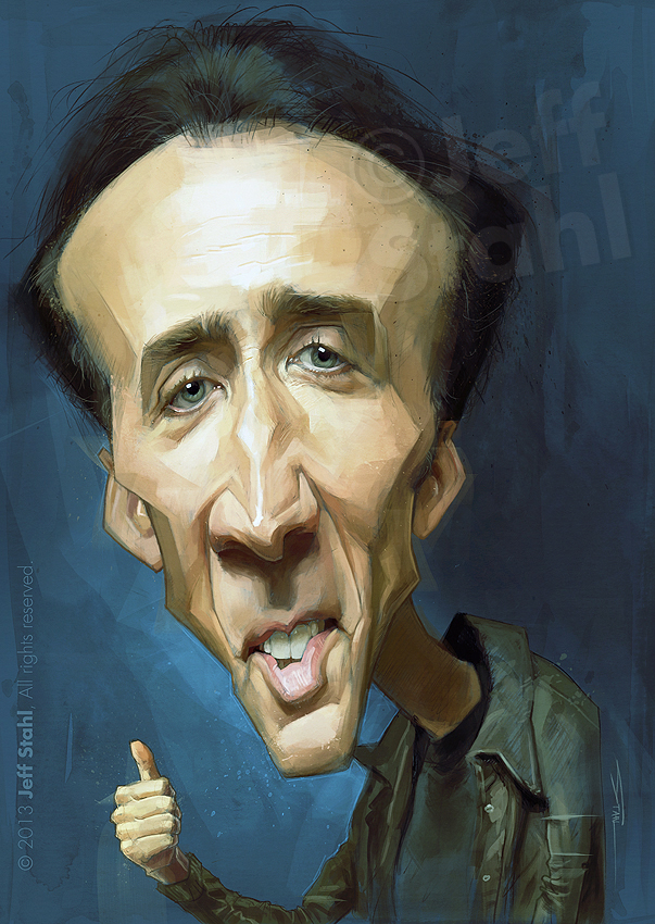 Nicolas Cage, by Jeff Stahl by JeffStahl