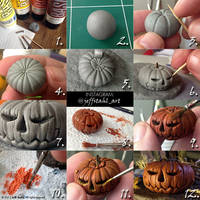 TUTORIAL : clay pumpkin