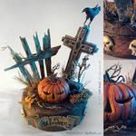 Halloween handmade miniature diorama